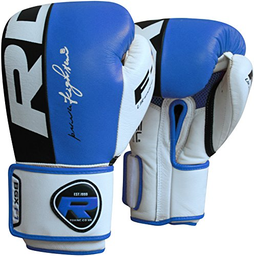Auth Rdx Leather Gel Boxing Gloves Fight,Punch Bag Mma Muay Thai Grappling Pad B - Size : 12 Oz