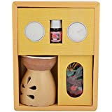 CBS Ceramic Diffuser Fragrance Gift Set (21.6 Cm X 18 Cm X 7.8 Cm, Beige)