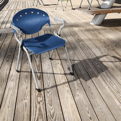 """Rico 17.75"""" Plastic Classroom Glides Chair  Seat Color: Navy"""