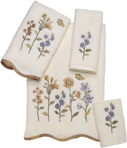 Avanti Premier Country Floral 4-Piece Towel Set, Ivory