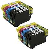Hi Ink 10Pack T125 (4BK/2C/2M/2Y)) Compatible Ink Cartridges Replacement for Epson Stylus NX125 NX230 NX420 NX625 WORKFORCE 320 323 520 Printers(10 Pack)