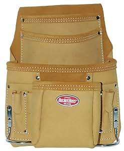 Bucket Boss 54064 Top Grain Leather 10-Pocket Pouch