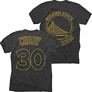 Golden State Warriors NBA Stephen Curry #30 Name & Number Pop Tri-Blend T-Shirt by Majestic Threads