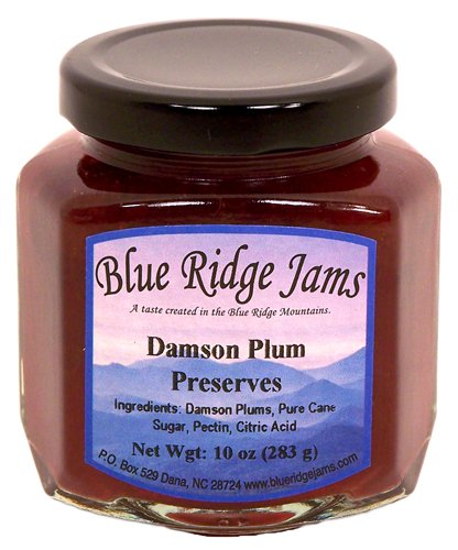 Blue Ridge Jams: Damson Plum Preserves, Set of