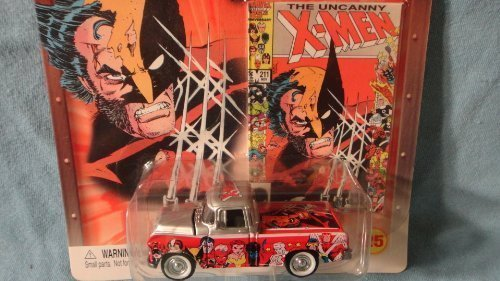JOHNNY LIGHTNING 1:64 SCALE MARVEL X-MEN SERIES 1955 CHEVY CAMEO PICKUP DIE-CAST COLLECTIBLE - 1