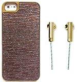 skinnydip ( スキニーディップ ) ロンドン の キラメキ ゴールド イヤフォン セット iPhone 5 5S ケース Gold Glitter Case Shiny Blingness シャイニー iphoneケース iphone5s iphone5 モバイル カバー 保護シート セット 海外 ブランド