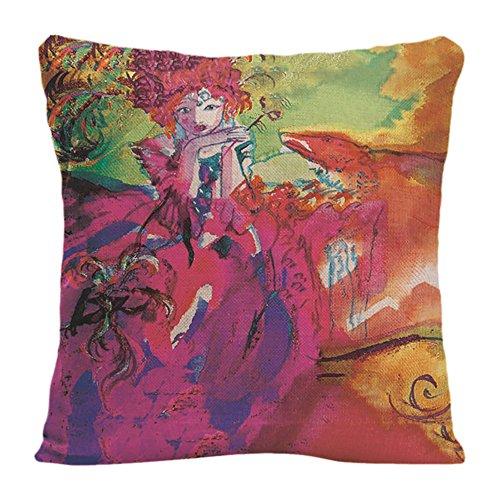 Ldj Cotton Polyester Sofa Chair Square Throw Pillow Case Decorative Cushion Cover Pillowcase Design With Mirandolina / Venetian Carnival Masks Custom Pillow Cover Print Double Side Sized 20X20 (Custom Halloween Masks Photo)
