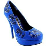 Womens Iron Fist Sugar Hiccup Sequin Suede Platform Court Shoes