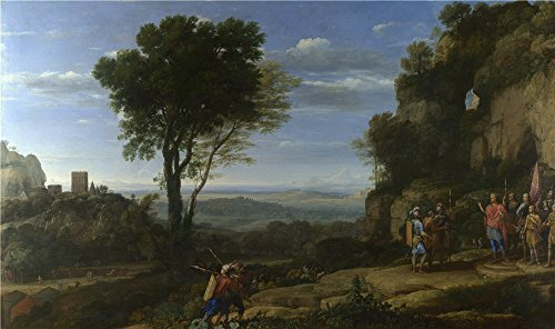 The Polyster Canvas Of Oil Painting 'Claude Landscape With David At The Cave Of Adullam ' ,size: 16 X 27 Inch / 41 X 69 Cm ,this Best Price Art Decorative Canvas Prints Is Fit For Basement Gallery Art And Home Gallery Art And Gifts