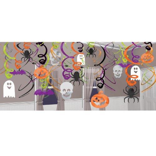 Halloween Hanging Swirl Decorations (30 pack)