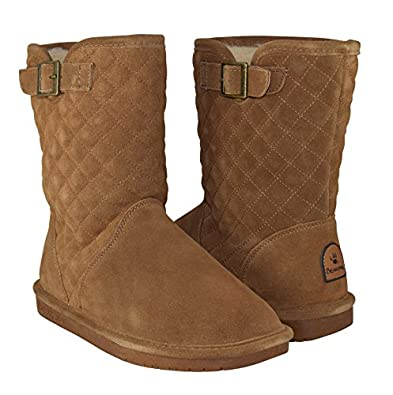 quilted sheepskin boots