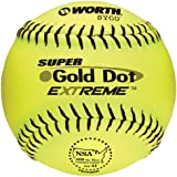 Worth Super Gold Dot Extreme NSA Softball (12-Inch), 12-Inch/