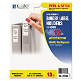 C-Line - Self-Adhesive Ring Binder Label Holders, Top Load, 2 1/4 x 3, Clear, 12/Pack 70035 (DMi PK