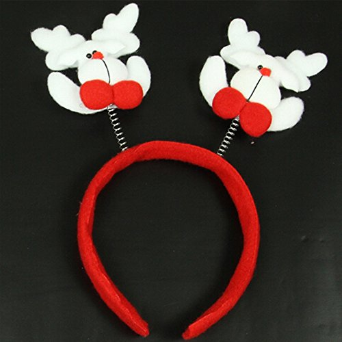 DS-Springy Elk Headband Headwear Christmas Party Decoration,7.9*7.9*1.2inch