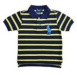 Boys Ralph Lauren POLO Shirt Navy & Yellow Striped Big Pony (Polo-02)
