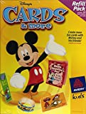 Avery - Disney - Mickey & Friends - Cards & More Refill Pack - 16 Sheets
