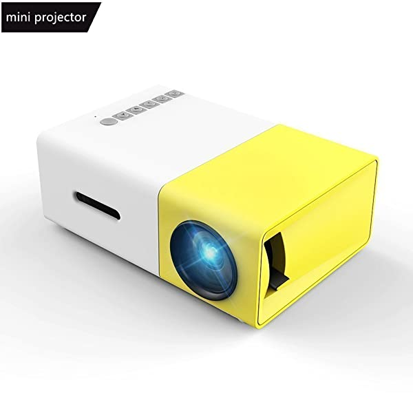 Mini Projector, Meer YG300 Portable Pico Full Color LED LCD Video Projector for Children Present, Video TV Movie, Party Game, Outdoor Entertainment wi
