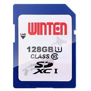 WINTEN SD card SDXCメモリーカード 128GB WT-SU01-128GB Class10 Ultra High Speed Class 1