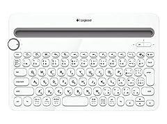 Logicool ロジクール Bluetooth マルチデバイス キーボード (Windows、Mac、Android、iOS対応) K480 ホワイト