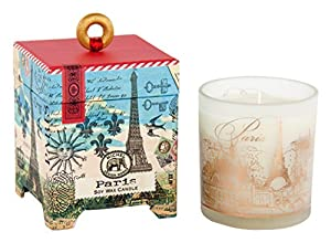 Michel Design Works Paris Soy Wax Candle, 6-1/2-Ounce, Small