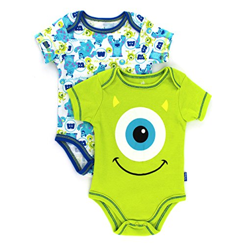 Monsters Inc Baby Boys' Monster Inc. 2 Pack Creeper (Baby) - Green - 6-9 Months front-136445