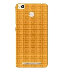 EPICCASE Yellow Box Design Mobile Back Case Cover For Xiaomi Redmi 3S (Designer Case)