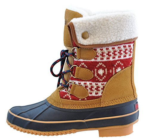 Khombu Irene Snow Boot,RED,10