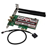 Network Card, Bluetooth 4.0 Dual-Band 2G/5G 300Mbps PCI-E PCI Express WAE3422 Network Card Wlan WiFi Adapter (1Piece) (Tamaño: 1*Piece)