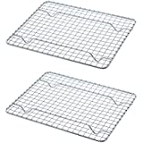 Update International Heavy-Duty 1/4 Size Cooling Rack, Cooling Racks, Wire Pan Grade, Commercial Grade, Oven-Safe, Chrome, 8 x 10 Inches, Set of 2