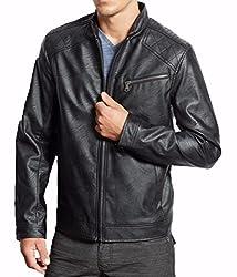 Zayn Leather Men's Leather Jacket (093_WLJ_Black_Small)