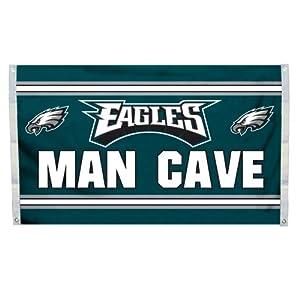 NFL Philadelphia Eagles Man Cave Flag with 4 Grommets, 3 x 5-Feet