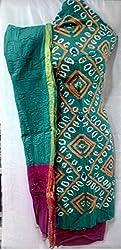 Shubh Women's Dress Material (8496CDWRMFA_Teal Magenta_Free Size)