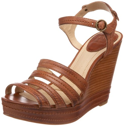 Frye Women's Corrina Stitch Fashion Sandals Brown brown 6 (39 EU)