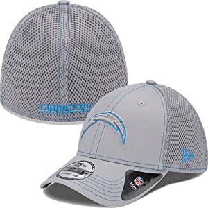 San Diego Chargers New Era NFL 39THIRTY Neo Fitted Hat - Gray by New Era