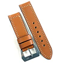 Pre-V by Mario Paci in Cognac with sewn in Stainless Steel buckle 24/24 130/85