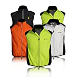 WOLFBIKE Cycling Vest Jersey for Men Sleeveless, White, Size: XL
