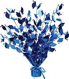 Bulk Buys Graduate Cap Gleam N Burst Centerpiece Blue - Case of 12