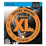 【国内正規輸入品】 D'Addario ダダリオ ベース弦 ニッケルラウンドワウンド ミディアムゲージ(50-120) ロングスケール EXL-160BT
