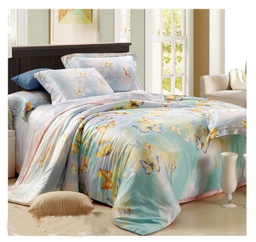 Fancy  Tencel the best bed sheets set pieces tencel sheets bedding Lc