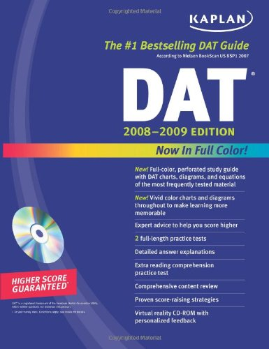 Kaplan Dat 2008-2009 Edition (With Cd-Rom) front-141490