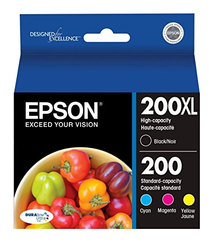 Epson 200XL Black + 200 Cyan/Yellow/Magenta Combo …