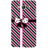 For Samsung Galaxy On5 (2015) :: Samsung On 5 Stripes Pattern ( Stripes Pattern, Pattern, Stripes, Ribbon, Black Background ) Printed Designer Back Case Cover By FashionCops