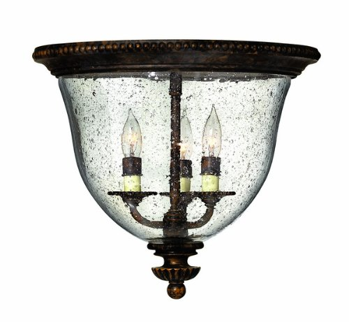 Hinkley Lighting H3712 3 Light Indoor Flush Mount Ceiling Fixture From The Rockf, Forum Bronze