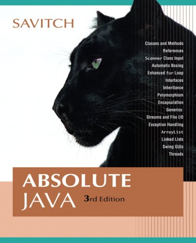 Absolute Java (3rd Edition)