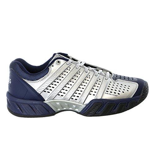 K-Swiss Men's Bigshot Light 2.5 Tennis Shoe (Silver/Navy/Black) (9 D(M) US)