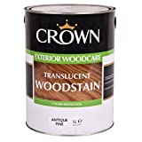 Crown Translucent Exterior Woodstain - 5L - Antique Pine
