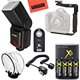 Big Mike's 690EX Pro Series Digital DSLR Dedicated Camera Flash PRO Kit for Canon Digital EOS Rebel SL1, T1i, T2i, T3, T3i, T4i, T5, T5i EOS 60D, EOS 70D, 50D, 40D, 30D, EOS 5D, EOS 5D Mark III, EOS 6D, EOS 7D, EOS 7D Mark II, EOS-M Digital SLR Cameras
