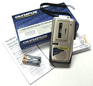 Olympus Microcassette Refurbished J-300 Hand Recorder with NEW MACHINE Guarantee J300