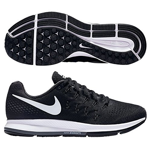 Womens Nike Air Zoom Pegasus 33 Running Shoes, BLACK/WHITE-ANTHRACITE-COOL GREY, 11 B(M) US (Cool Greys 11 compare prices)