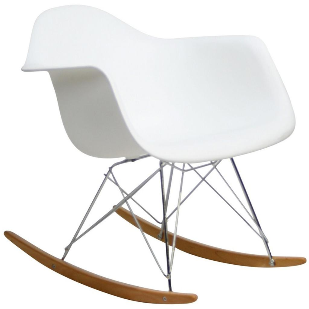 Lexmod molded plastic armchair rocker in for Rocking chair